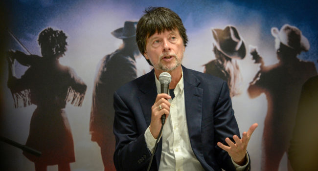 Documentary filmmaker Ken Burns answers questions about his new documentary Country Music, an eight-part, 16-hour look at the history of the music genre, during a press conference at the Clovis Rodeo Grounds on Thursday, July 25, 2019.