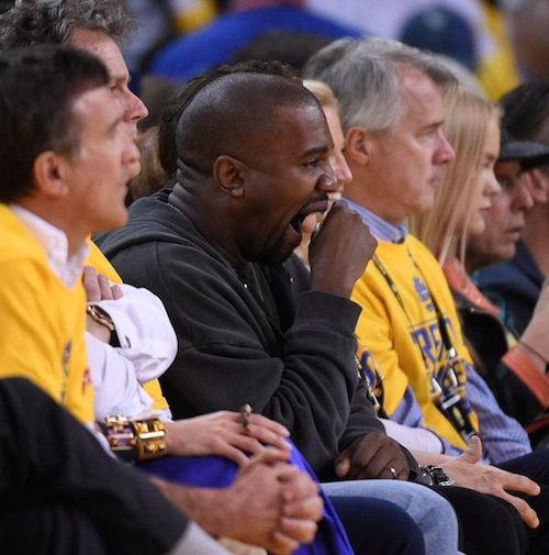 kanye-west-yawning-at-golden-state-warriors-game